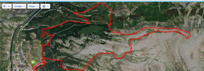 Recorrido Carrera Montaña Peñacorada Trail