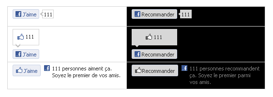 Facebook : J'aime