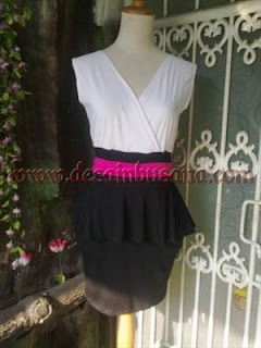 Model Dress Tanpa Lengan Variasi Rok Peplum