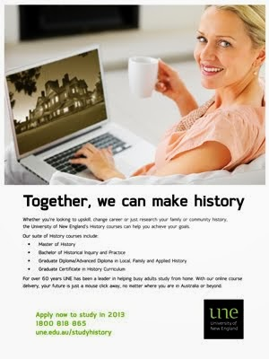 Study Local and Family History at UNE