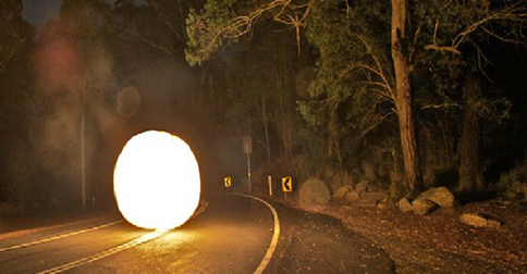 UFO Pursued Family Along Road Then Attacked Car