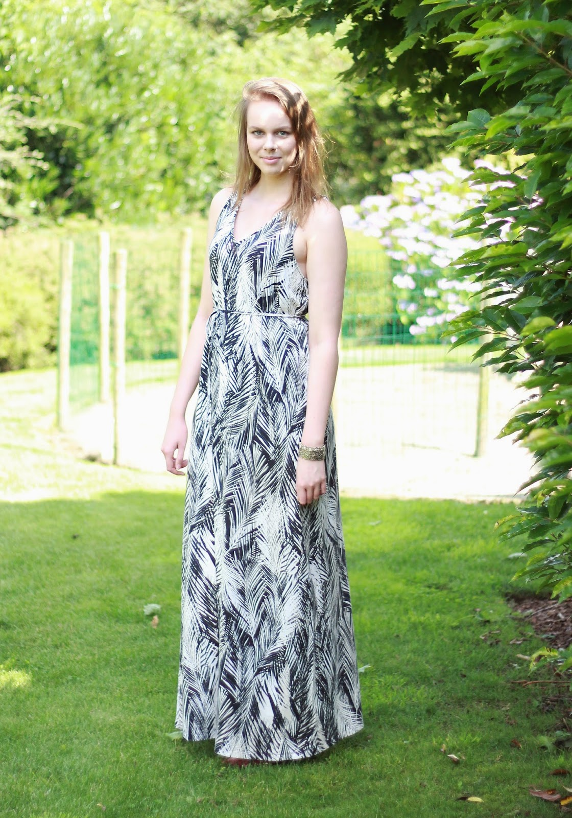 outfit maxi dress, outfit of the day maxi dress H&M