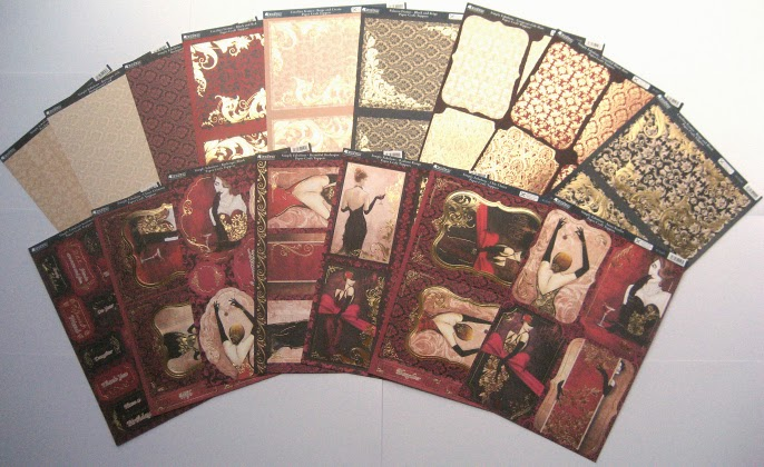 Kanban Simply Fabulous Collection - die cut and foiled toppers, mats & card