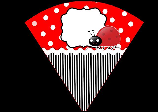 Cone para guloseimas Joaninha