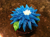 Iced Queen Piping Cornflowers Aka Bachelor' Buttons