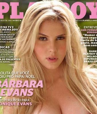 Bárbara Evans - Capa Playboy - Dezembro 2011