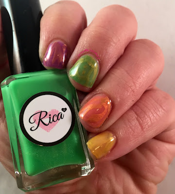 alpha mani, letter r, rica, squishy, nail polish, jelly nail polish