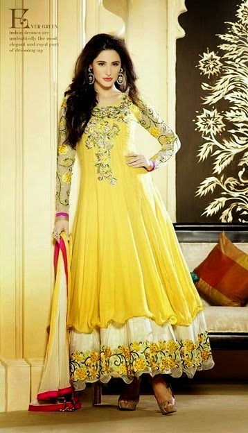 Nargis Anarkali Dresses Suits 2014