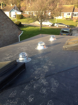 solatube light-pipe domes, seen from the roof