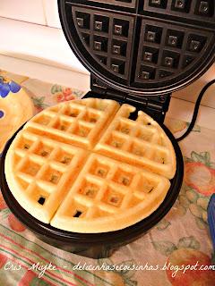 Receita de waffles na maquina