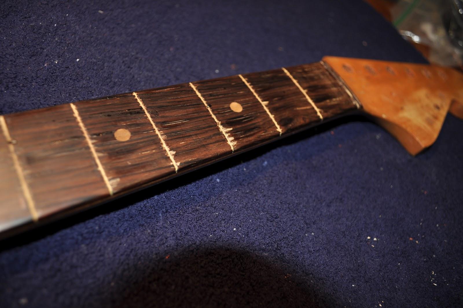 The Guitar Garage Saving A Fretless 9 String 1963 Fender Jaguar
