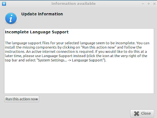 Incomplete Language Support at first desktop after install Lubuntu