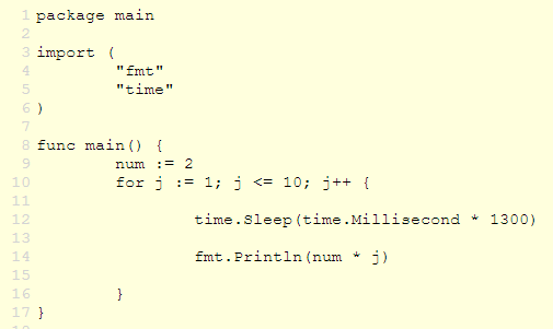 Go Programming A Simple Golang Example Sleep Function