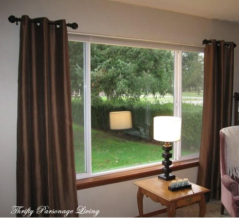 thrifty parsonage living secret to inexpensive curtain rods. Black Bedroom Furniture Sets. Home Design Ideas