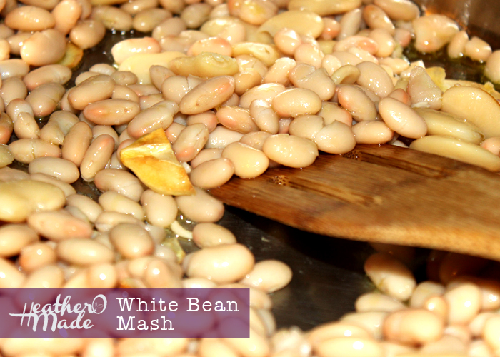 white bean mash. heatheromade. recipe