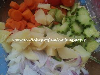 Couscous freddo con verdure croccanti