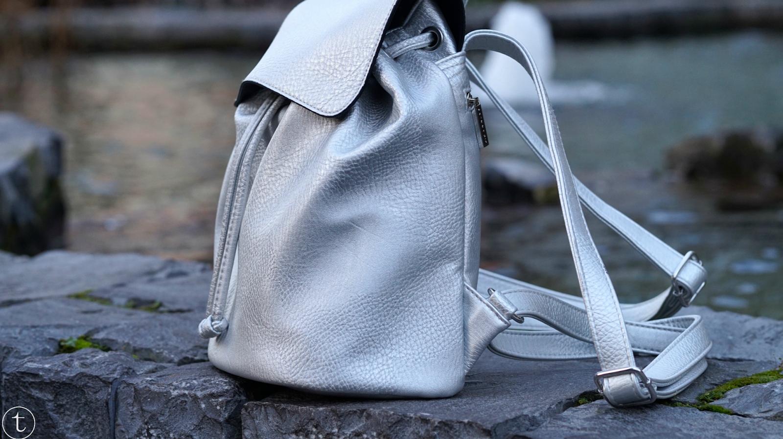 silver skinnydip london backpack