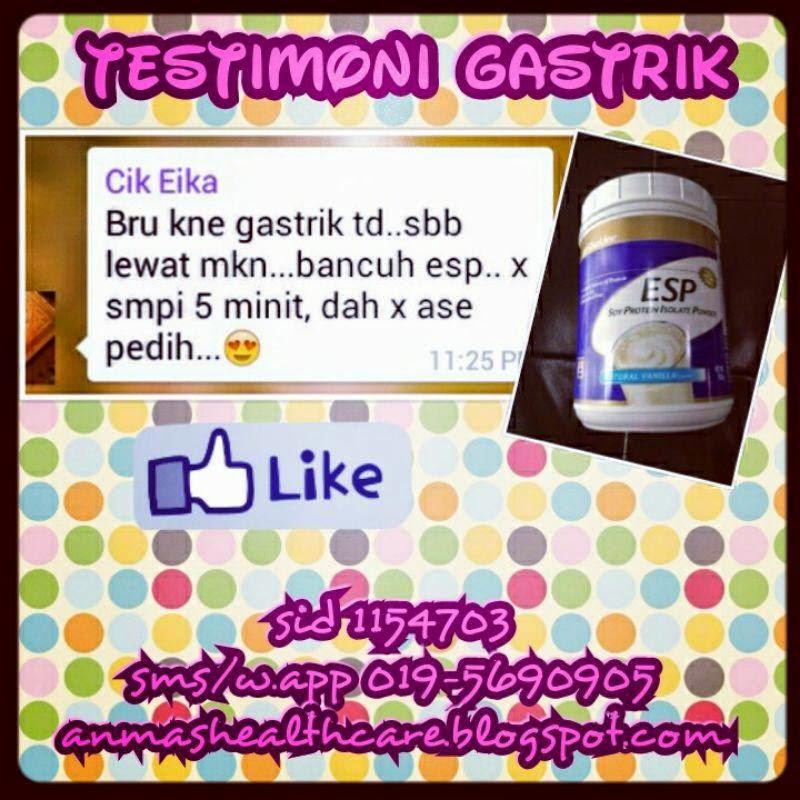 testimoni gastrik dengan esp