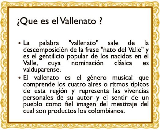 DEFINICION DE VALLENATO