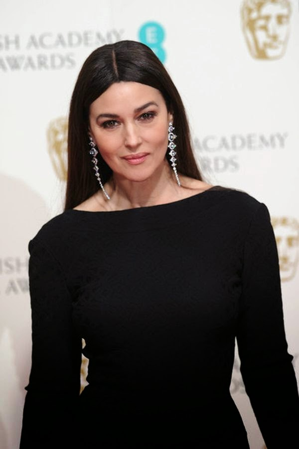 Monica Bellucci and Léa Seydoux wear gown to the EE British Academy Film Awards at The Royal Opera House in London, England on Sunday, January 8, 2015