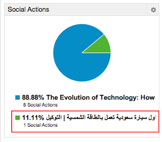 Social Action Panel - Google Analytics Dashboard