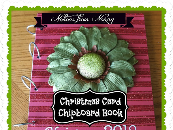 EASY Christmas Card Chipboard Scrapbook