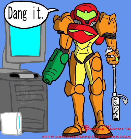 Samus Aran's Wii troubles por BrokenTeapot