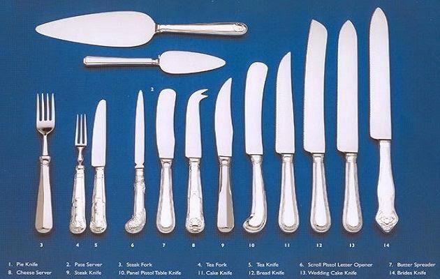 Atender al comensal en alimentos utensilios de trabajo for Cuchillos carne mesa