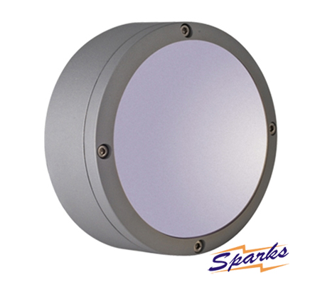 Round Wall Bulkhead in silver, the TPC2171 IP54 diecast aluminium wall lamp