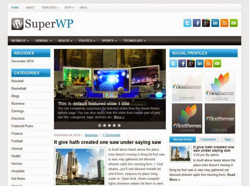 SuperWP - Free Wordpress Theme