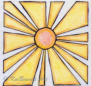 Sun drawing KmBennettArt
