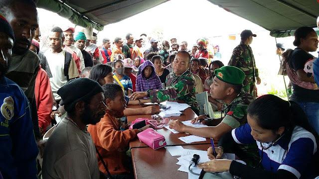 Personel PPRC TNI Gelar Bhakti Sosial di Merauke