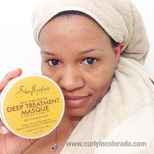 www.curlyincolorado.com Shea Moisture Raw Shea Butter Deep Treatment Masque Review