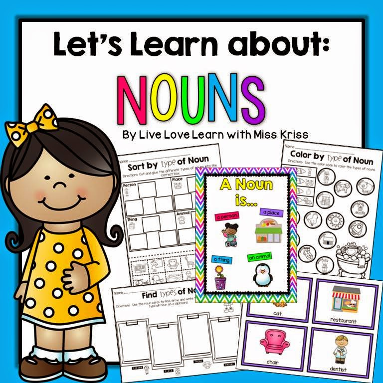 http://www.teacherspayteachers.com/Product/Lets-Learn-About-Nouns-1436435
