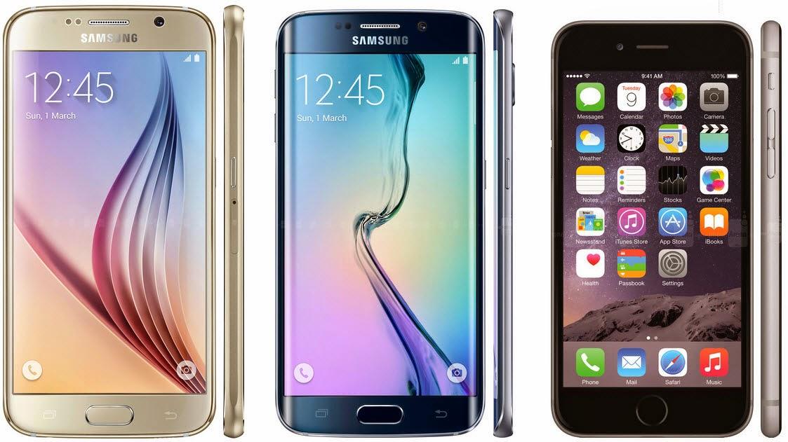 Smartphone 4G LTE, Samsung Galaxy S6 dan iPhone 6