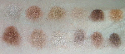 Swatches of the shadows from the Heaven and Earth Palette