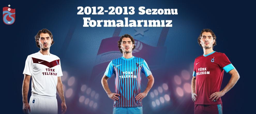 Trabzonspor, 2012-2013 sezonunda giyeceği formaları tanıttı.