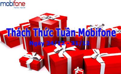 Khuyến mãi 50% Mobifone với Thách Thức Tuần ngày 24 – 31/12/2015