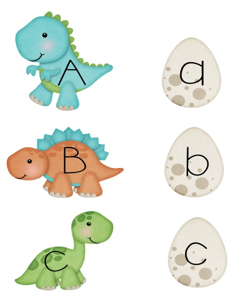 Canny image intended for dinosaur matching game printable