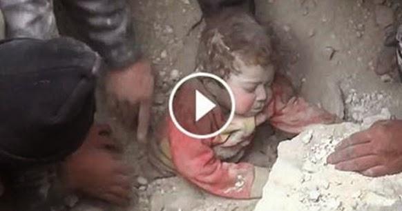 Pequeña Niña Es Desenterrada Viva En Siria