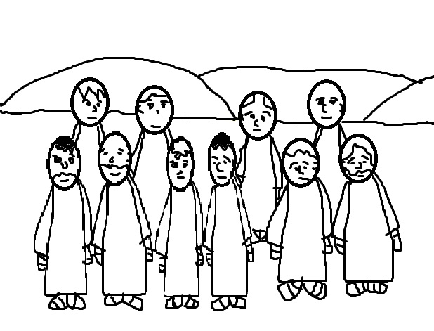 Sunday School Special Bible Story The Man Who Said Thank Ten Lepers Coloring Page