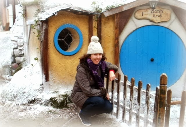 Woman In Hobbit Scene Enjoying Winter