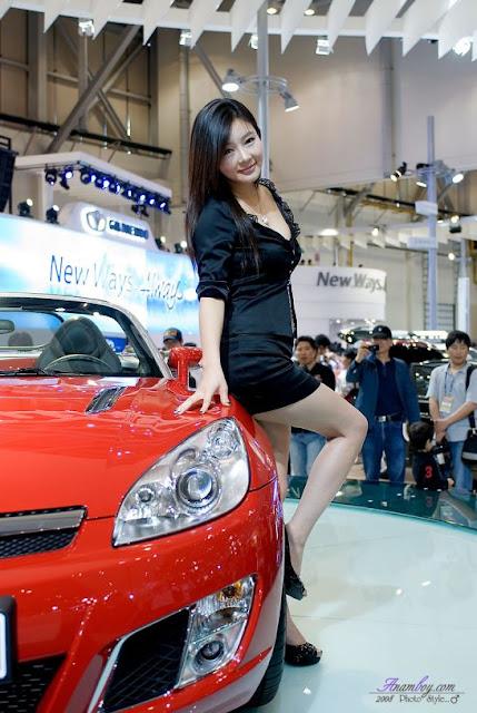 dress black, korean model, Ji Yeon Soo, beautiful model, sexy model, sales promotion girl