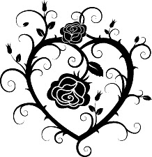 Rose Tatuaggio Heart And Roses Tattoo Vector © Bluedarkat 33103429