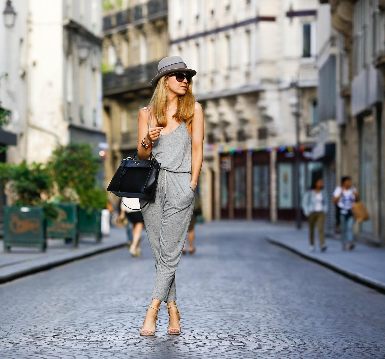 streetstyle, jumpsuit, onesies, loreak mendian, hermès, maison michel, paris, pardonmyobsession
