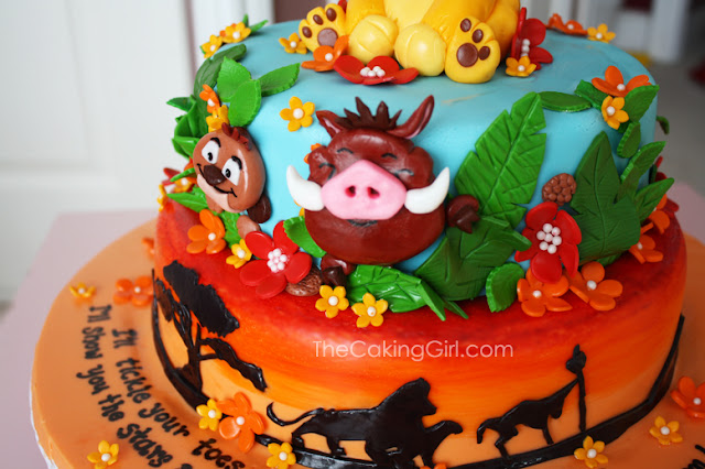 best babyshower lion king cake