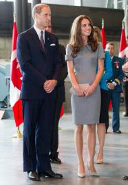 Prince William and Kate The Duke and Duchess of Cambridge tour the War Museum in Ottawa, Canada on Saturday July 2, 2011.