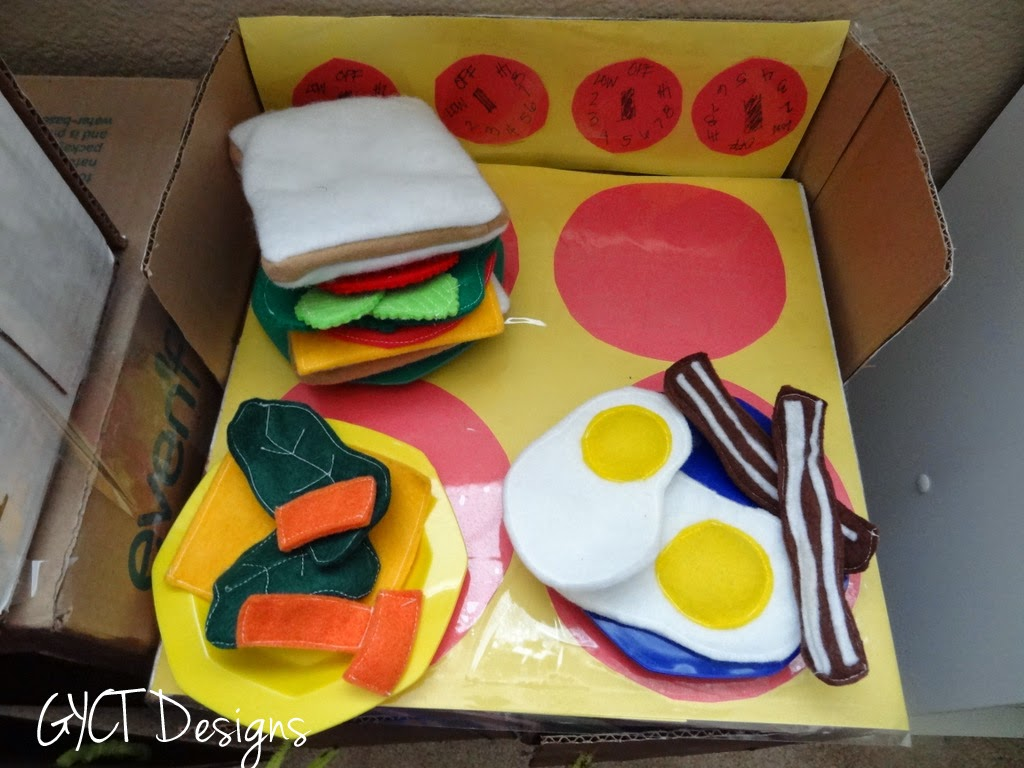 DIY Kids Kitchen, Felt Food and Free Apron at GYCT