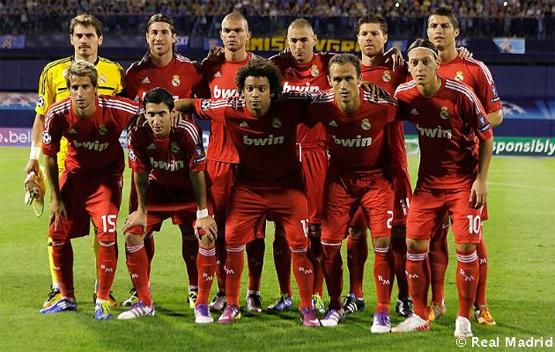segunda equipación Real Madrid 2012 roja Champions