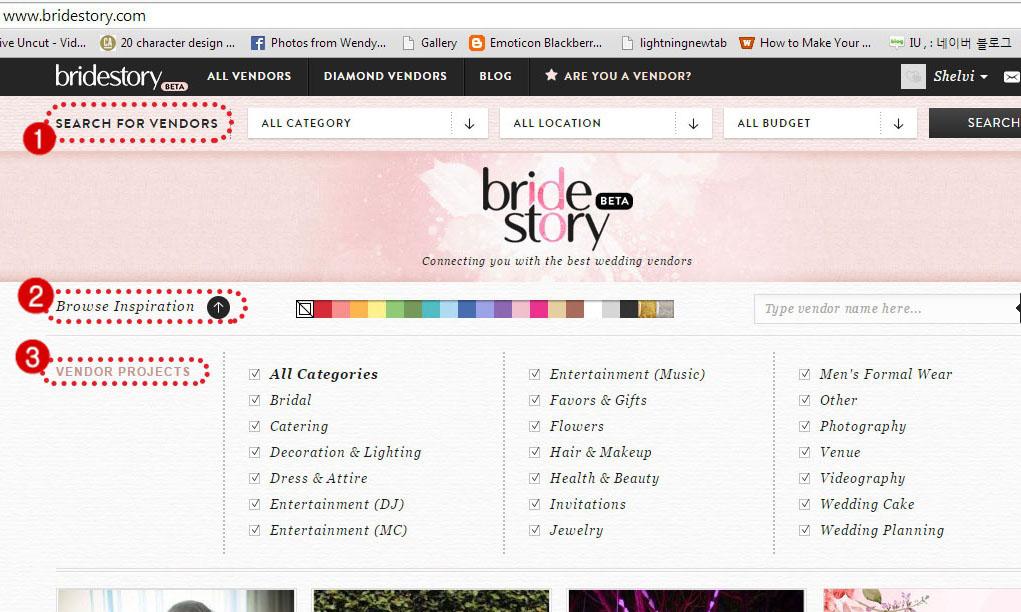 BrideStory.com, wedding portal, source of wedding vendors information